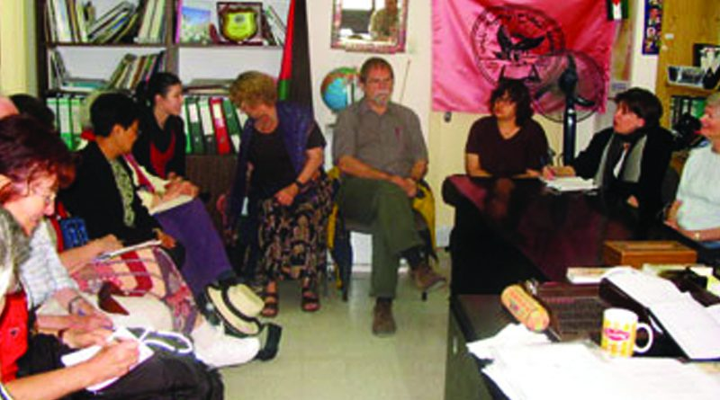 Members of the International United Churches of Canada visit An-Najah