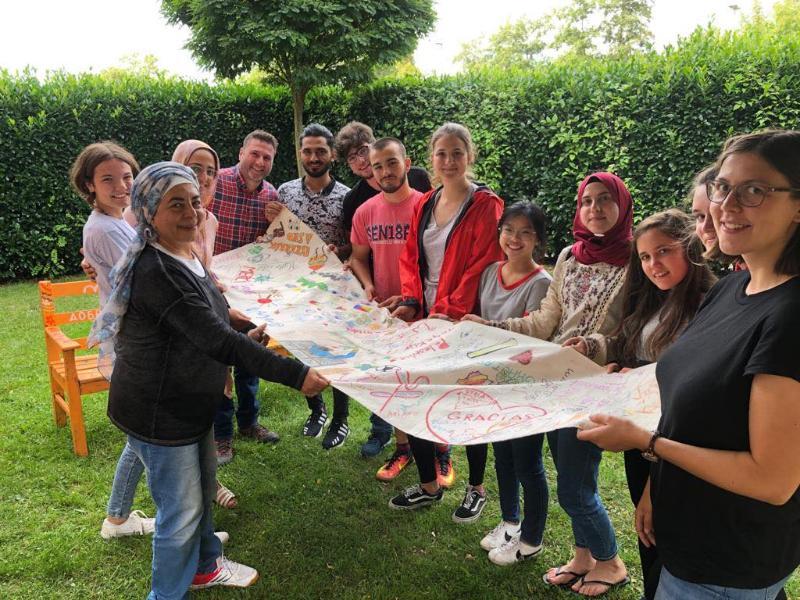 مشاركة الطالبة مروة وتد بمخيم بيئي واجتماعي في المانيا